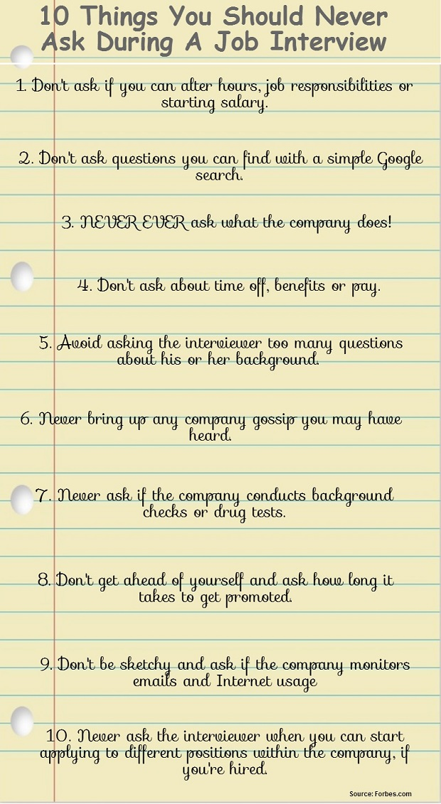 questions to ask for an interview