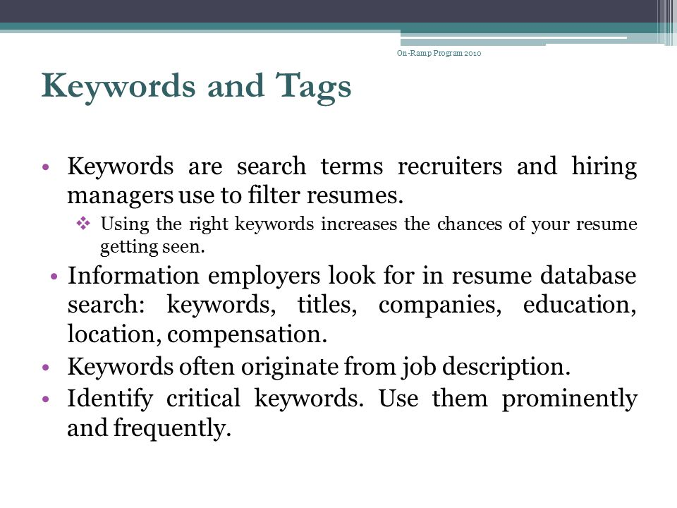 what recruiters look for in a resume cv job search radio jeff
